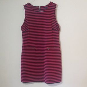 Tommy Hilfiger navy and red striped dress